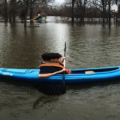 Kayaking in the park