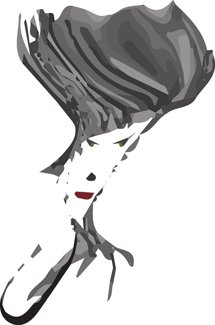 Wavy Hair Woman